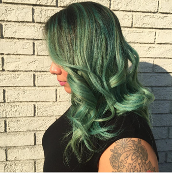 Make everyone green with envy with bright green hair!