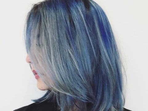 Image result for pantone blue hair