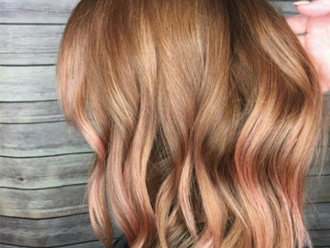 Rose gold hair is the haircolor taking over Instagram for fall 2017.