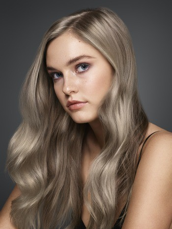 Redken 2018 SEQ model with Natural Ash Blonde Haircolor