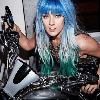 Redken muse and model, Chloe Norgaard shows off her vivid haircolor by City Beats.