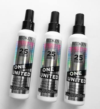One United leave-in treatment helps detangle hair and prevent breakage while brushing.