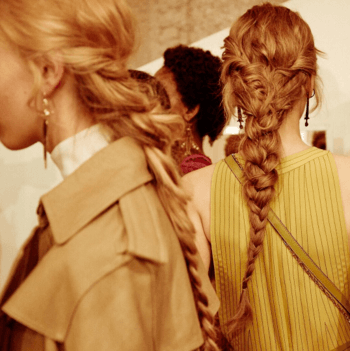 Braided hairstyle created by Redken Global Creative Director, Guido Palau