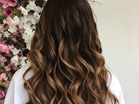 Balayage brunette haircolor for fall 2017.