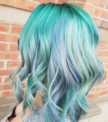 Bring out your softer side with this gorgeous mermaid hair color.