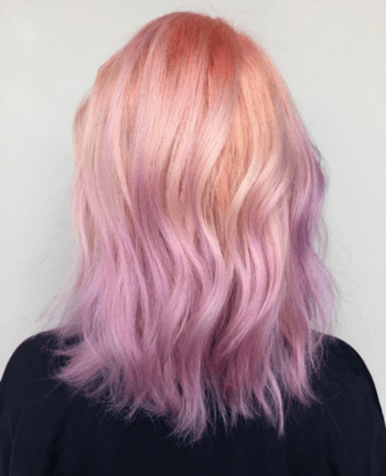 Create an unexpected gradient by adding pastel hair colors to the ends of your hair.