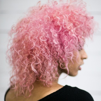 There's nothing better than pastel pink haircolor paired with spiral curls.