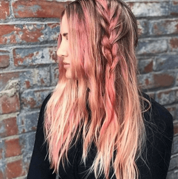 Peach hair brings out warmth and lightness to any hair color.