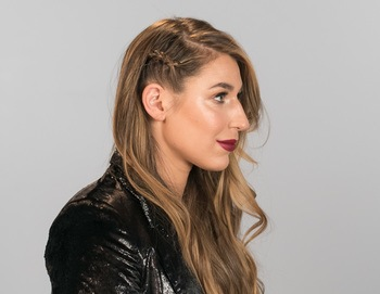 Andres Pion For Redken Galentine's Day Hair Side Braid