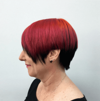 Magenta hair color created by Redken Artist, Blake Reed Evans.