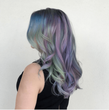 Blended mermaid hair color by Redken Artist, Blake Reed Evans.