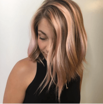Rose gold hair color created by Redken Artist, Sean Godard