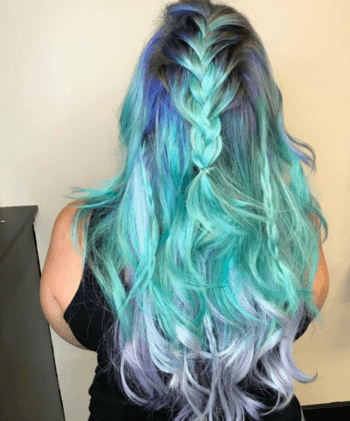 Jewel-toned eyeshadows are a fun way to make mermaid hair standout.
