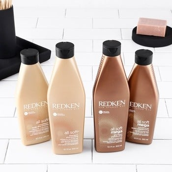 Redken All Soft Mega collection and All Soft collection.