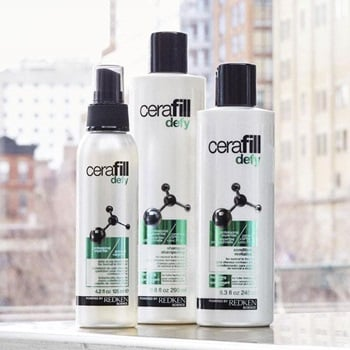 Fight flakes and winter hair problems with Cerfill Defy scalp routine