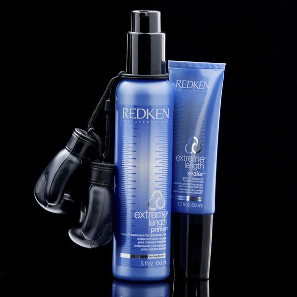 Strengthen hair with a split end sealer and rinse off primer treatment