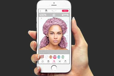 Try on a Redken Haircolor with the Youcam App