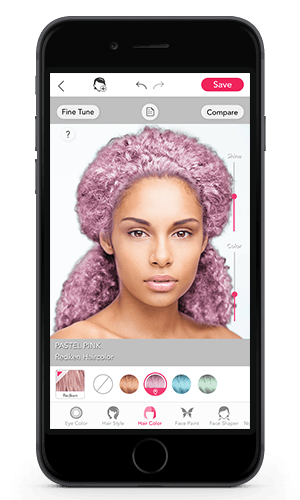interactive hair color net wonder how youd look with redken pastel haircolor ty it youcam haircolor change app for virtual makeover