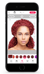 Haircolor Change App for Virtual Makeover  Redken