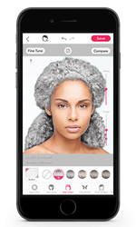 Wonder how you'd look with Redken silver haircolor? Try it with YouCam!